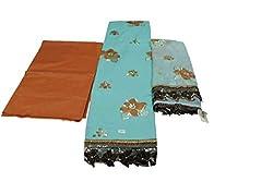 Alankar Textiles Panjabi Suit Piece Light Blue Color Cotton Dress Material