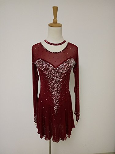 [Fashion Custom Figure Skating Dresses Girls Ice Skating Competition Dresses With Crystals A2152] (Ice Skating Dress Costumes)