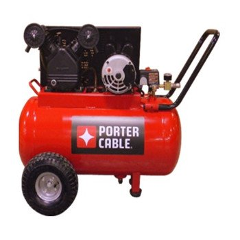 Porter Cable PXCMPC1682066 20-Gallon Single Stage Portable Air Compressor, Red