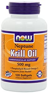 NOW Foods Neptune Krill Oil 500mg, 120 Softgels,