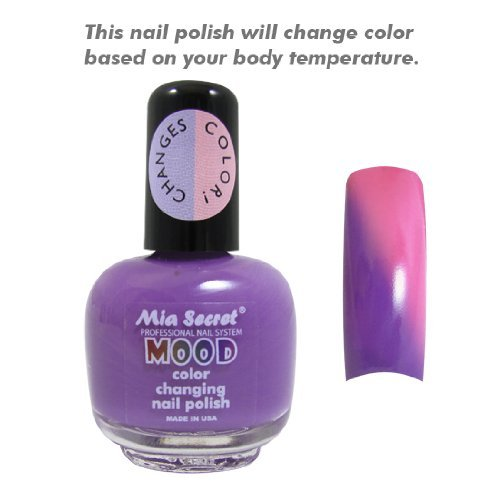 Mia Secret Mood Nail Lacquer Color Changing Nail Polish Purple to Pink (The Mood Polish compare prices)