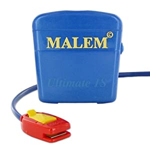 Malem Ultimate Selectable Bedwetting Enuresis Alarm with Vibration - Royal Blue