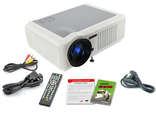 DB Power HTP HDMI LED 1080p HD Projector Home Cinema Video Game Native 640*480 support 720P, 1080P White at Sears.com