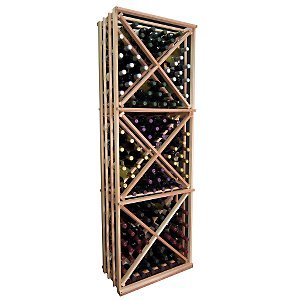 Amazon Com Open Wine Rack W Triangular Storage Bins
