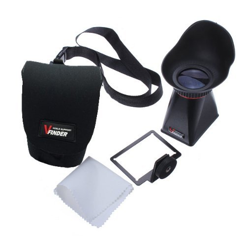 """Water & Wood New 2.8X 3"""" Lcd Viewfinder Magnifier Extender Hood V4 For Sony Nex-3 Nex-5 Nex-5C/5N front-616293"""