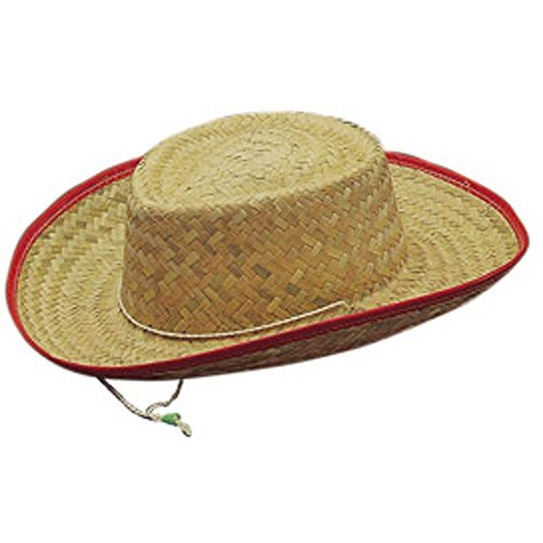 Child's Western Straw Cowboy Costume Hat