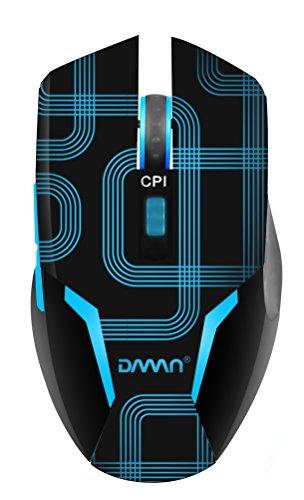 Agptek® Led Illuminated Ergonomics Usb Wired Backlight Gaming Optical Mouse- Backlit 600-1600Dpi (Blue)