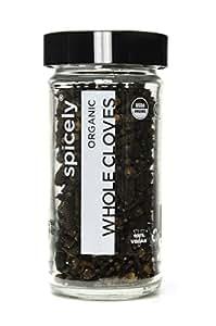 Spicely Organic Cloves Whole - Glass Jar - Gluten Free - NON GMO - Vegan - Kosher