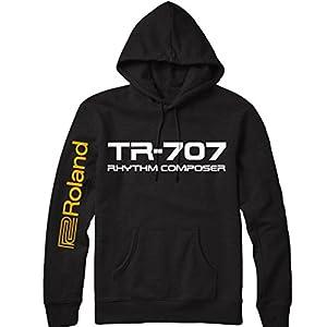 TR-707 Drum Machine Hoodie , Noir, XX-Large