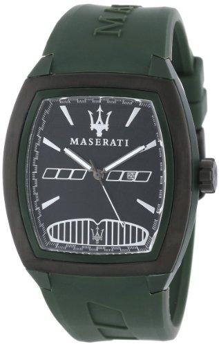 De los hombres de Maserati R8851104018 Passione de color verde de la correa de caucho reloj Passione