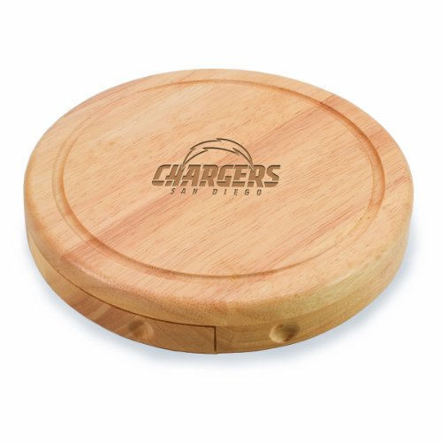 NFL San Diego Chargers Brie Cheese Board/Tool Set, 7-1/2 Inch