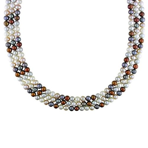 New York Pearls Multi-colored FW Pearl 100-inch Endless Necklace (6-6.5 mm)