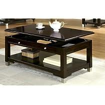 Table with Dark Brown Walnut Finish