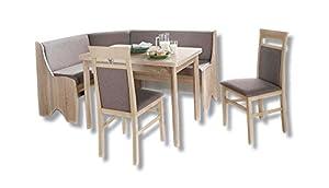 Avanti trendstore panca angolare con tavolo in quecia e due sedie ca 66x87x126 cm amazon - Panca angolare cucina ...