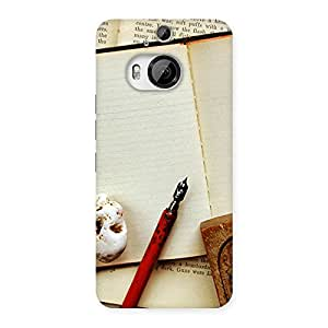 Delighted Little Diary Multicolor Back Case Cover for HTC One M9 Plus