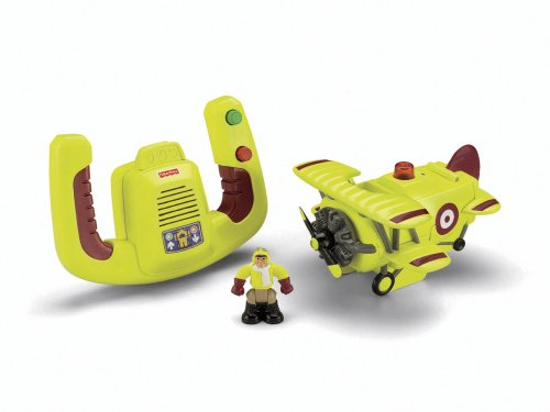 Cheap Fisher-Price Transportation System Remote Control Bi-Plane with Loopy Loco & Darren