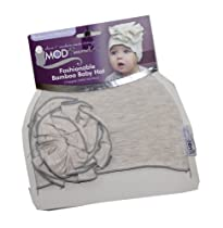 Mod Swad Fashionable Bamboo Baby Flower Hat ~ Choose Size/Color (Small 5-13 lbs, Bisque)