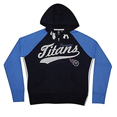 NFL TENNESSEE TITANS Womens Athletic Warm Zip-Up Hoodie / Jacket