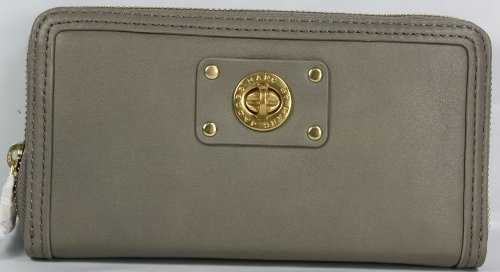 Marc Jacobs Turnlock Large Zip Around Wallet Putty