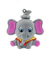 Quace Grey Elephant Cool Fancy USB Flash 16 GB Pen Drive