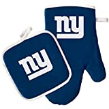 NFL Team Logo Kitchen Home Outdoor New York Giants Oven Mitt and Pot Holder