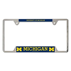 Buy Michigan Wolverines Official NCAA 12x6 Plastic License Plate Frame by Wincraft by WinCraft