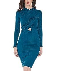 LurapWomen's Ocean Mirage Jersey Dress Teal Colour - Regular & Plus Sizes