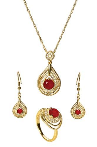 sempre-londres-plaque-or-jaune-18-carats-pendentif-gloire-trio-rouge-avec-etui-a-rabat-avec-zircones