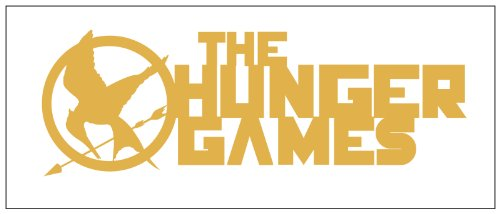 Hunger Games Design 2 Sticker Decal Metallic Gold
