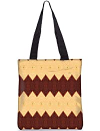 Snoogg Yellow And Brown Digitally Printed Utility Tote Bag Handbag Made Of Poly Canvas