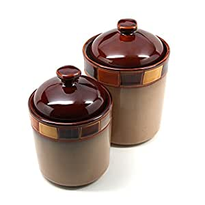 Amazon.com: Casa Estebana 2 pc Canister Set: Health & Personal Care