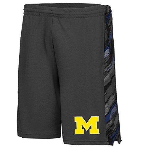 Michigan Wolverines NCAA Mustang Performance Training Shorts - Charcoal