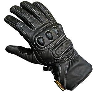 Cowhide Leather Motorbike Motorcycle Biker Gloves Medium [Misc.]