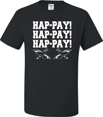 SickFits Men's Hap-Pay Hap-Pay Happy Duck Commander Duck Dynasty T-Sh Gray Size S