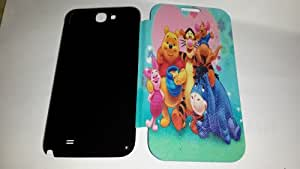 CARTOON Flip Cover Diary Case FOR SAMSUNG GALAXY NOTE2-NOTE II-N7100
