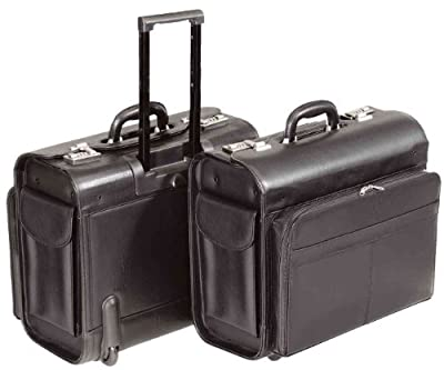 Alassio - 45030 SAN REMO - trolley pilot case, wheeled, imitation leather, black from Juescha GmBH