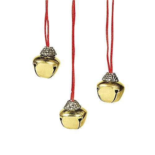 Fun Express Jingle Bell Necklaces (1 Dozen)