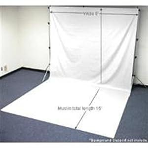 Chromakey White Muslin Screen 9x15 (feet)