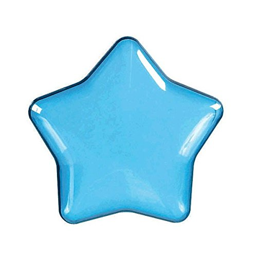 "Amscan Cool Star-Shaped Plastic Party Favor Container, 3"", Blue"