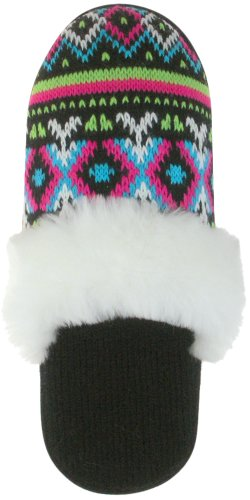Cheap Capelli New York Trible Stripes Knit Slipper Scuff Ladies Indoor Slipper (B004962B9Y)