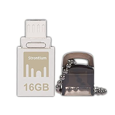 Strontium Nitro ON-THE-GO 16GB USB Flash Drive (Black & Silver)