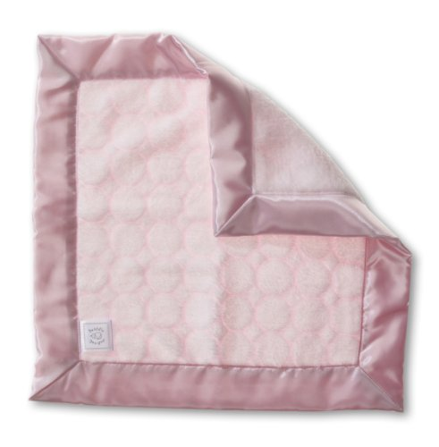 SwaddleDesigns Baby Lovie, Security Blankie with Pastel Puff Circles, Pastel Pink