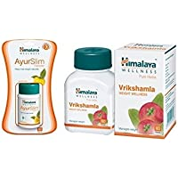Himalaya Weight Wellness Combo (Ayurslim & Vrikshamla) Pack Of 3 Each