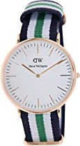 Daniel Wellington Classic Nottingham Rosè Gold Men´s 40mm Round Case
