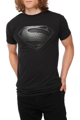 DC Comics Superman Man Of Steel Silver Logo T-Shirt 2XL