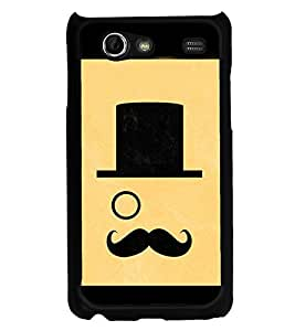 Moustache Uncle 2D Hard Polycarbonate Designer Back Case Cover for Samsung I9070 Galaxy S Advance :: Samsung Galaxy S II Lite