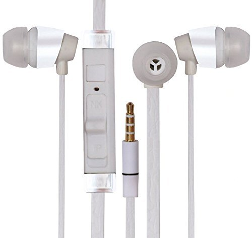 ESTAR Asus VivoTab RT TF600T Compatible 3.5mm In Ear bud Stereo Earphones Mini Size HeadSet Headphone Handsfree With Mic Handsfree-White  available at amazon for Rs.299
