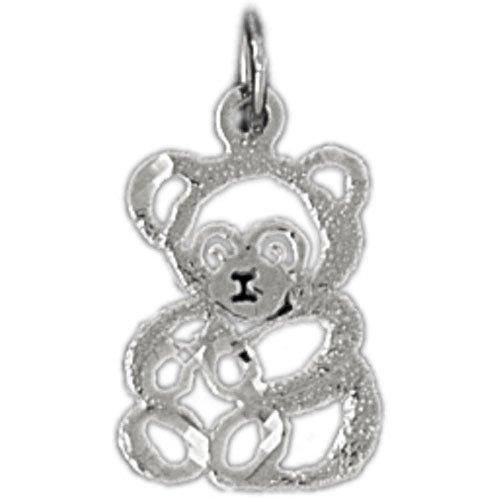 Clevereve's 14K White Gold Pendant Teddy Bear