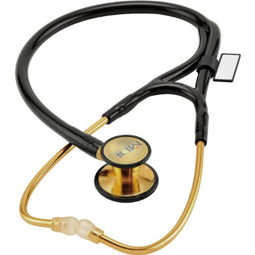 Cheap MDF(R) ER Premier Stethoscope – 22K Gold Edition – Adult & Pediatric Black (ATR25515528)