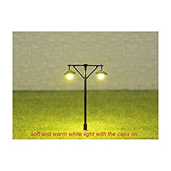 5 x HO / OO Scale Model Train Street Lights Railroad Lamp posts Led